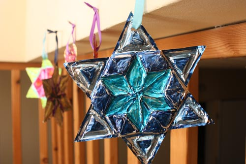Star Of David Foil Ornament Growing Up Creative