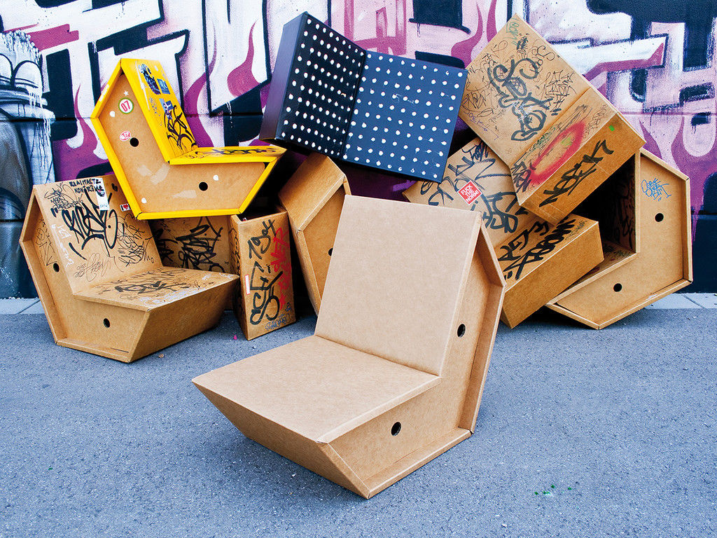 Cardboard furniture techniques how to achieve strength growing up -  Otto Chair By Peter Raccke Via